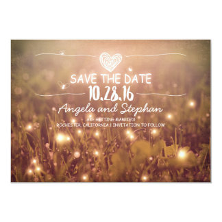 string of lights blush rustic save the date cards 13 cm x 18 cm invitation card