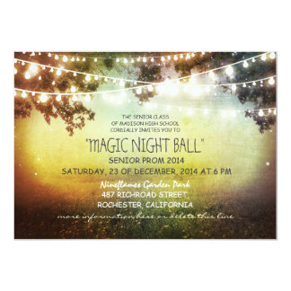 string of lights rustic Prom Invitations