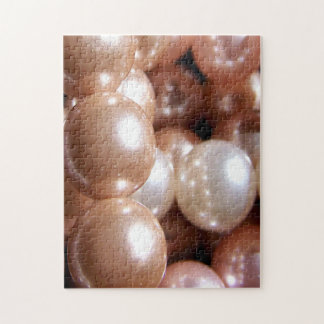 String of Shiny Rose Gold Pearls Puzzles