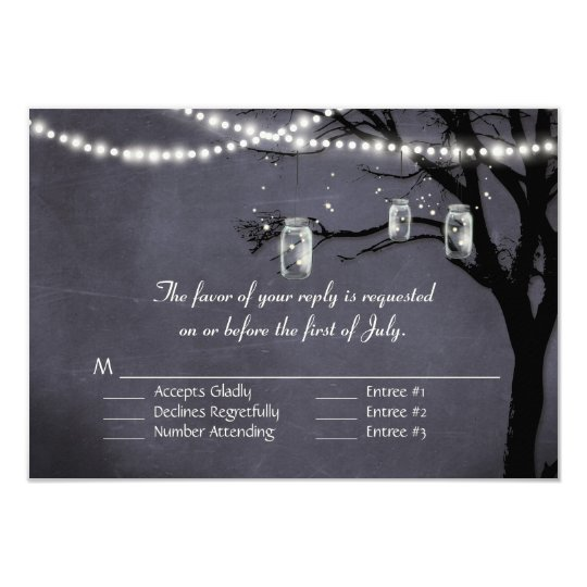 String of Twinkle Lights Rustic Outdoor Night Tree