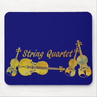 String Quartet in Gold Mouse Pad