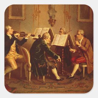 String Quartet Square Sticker