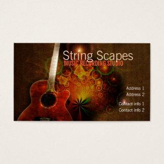 String Scapes Guitar Fractal Business card