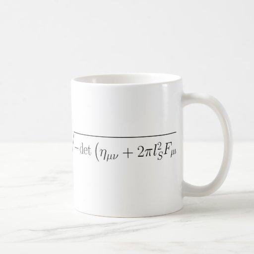string theory Born-Infeld action Coffee Mug