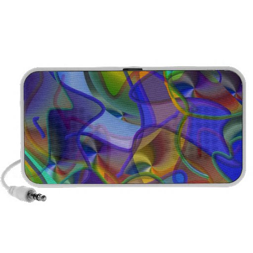 String Theory Shimmering Abstract iPhone Speaker