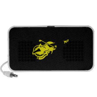 Stringed black yellow instrument violin bow image mini speaker