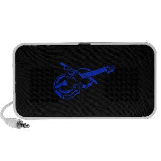 Stringed blue black instrument violin bow image pn portable speakers