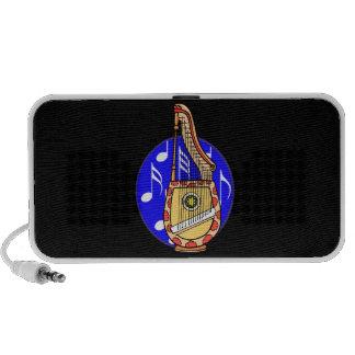 Stringed Harp Guitar Cross Instrument Speakers