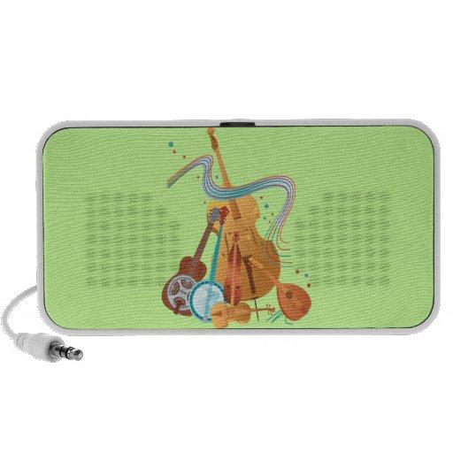 Stringed instruments travelling speaker