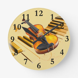 Strings and Keys_ Round Clock