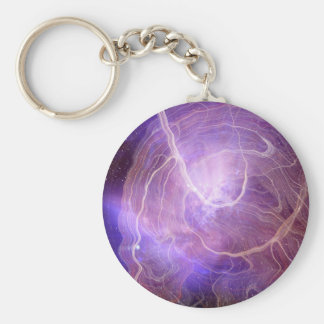 Strings and superstrings basic round button key ring