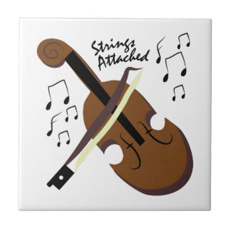 Strings Attached Small Square Tile