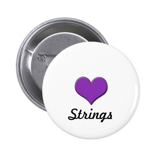 Strings Pinback Buttons
