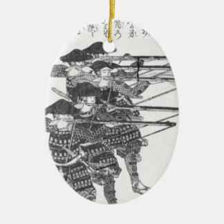 Strings for night firing by Utagawa Kuniyoshi Ceramic Oval Decoration