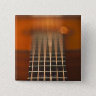 Strings of Acoustic Guitar 15 Cm Square Badge