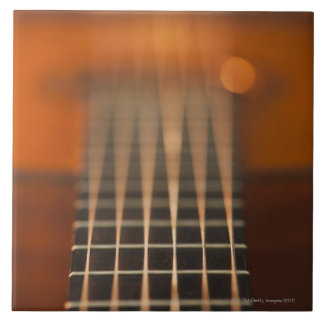 Strings of Acoustic Guitar Large Square Tile
