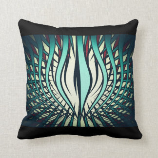 Strings Of Madness Green Retro Throw Pillow Art
