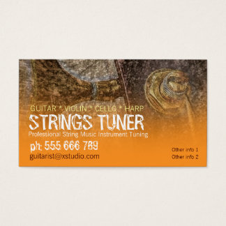 Strings Tuning Specialist Business Cards