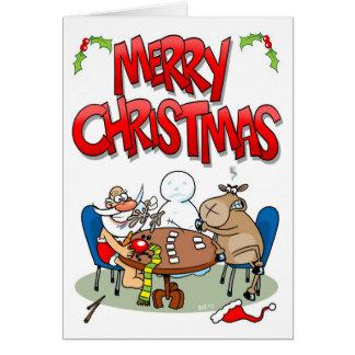 Strip Poker Greeting Card