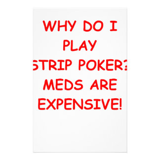 strip poker stationery design