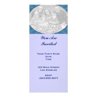 stripe blue frame invites