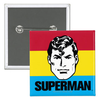 Stripe Boy - Superman 15 Cm Square Badge