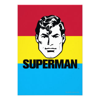 Stripe Boy - Superman Invitation