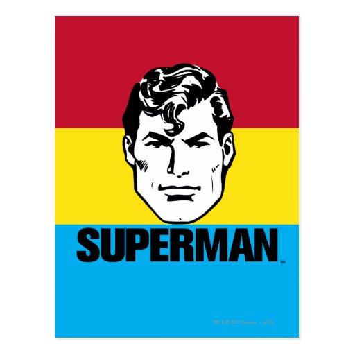 Stripe Boy - Superman Postcard