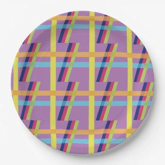 Stripe Bright Paper Plate