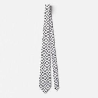 Stripe circle white black tie