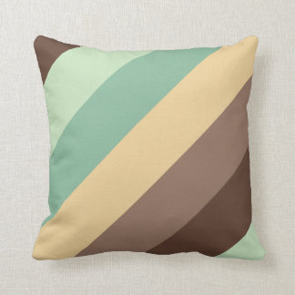 Stripe color combination pillow-mint choco throw pillow