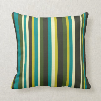 Stripe color combination wrapping paper- peacock throw pillow