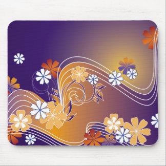 stripe floral design mouse mat