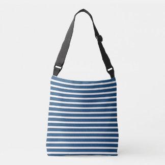 Stripe Navy White Design Tote Bag