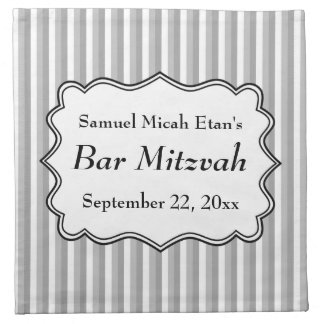 Stripe Pattern Bar Mitzvah Napkin