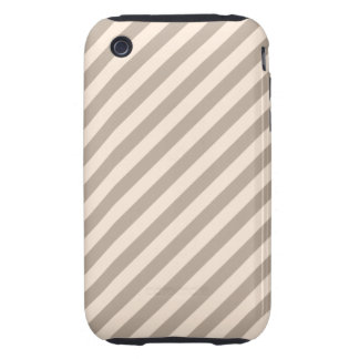 Stripe Pattern in Neutral Colors . Tough iPhone 3 Covers