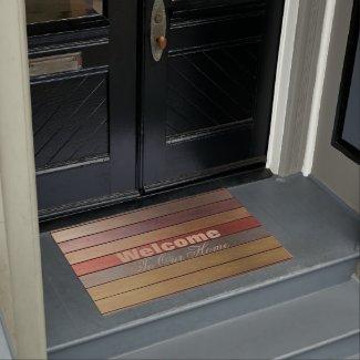 Stripe Print Welcome Doormat