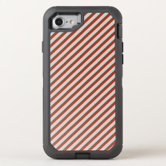Stripe red iphone cover OtterBox defender iPhone 7 case