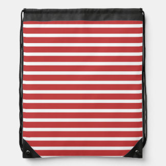 Stripe Red White Pattern Backpack