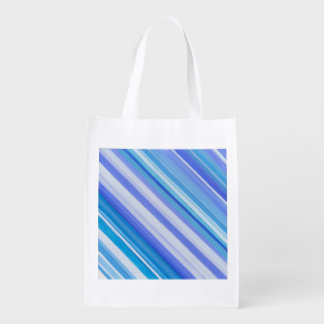 Stripe reusable blue bag