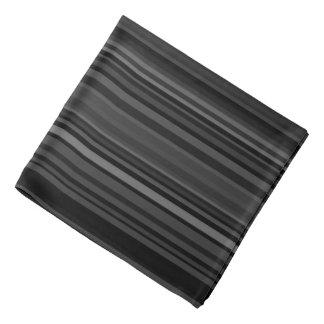 Stripe Striped Stripes Pattern Print Lines Black Bandana