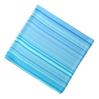 Stripe Striped Stripes Pattern Print Lines Blue Bandana