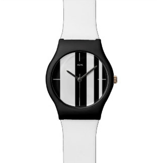 STRIPE STYLE | black stripes on any color Wrist Watches
