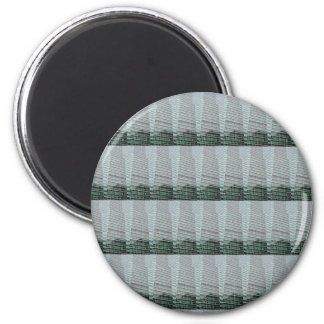 Stripe Template DIY add Text Quote Image Photo 6 Cm Round Magnet