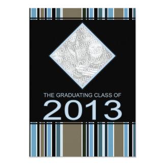 """striped 2013 graduation announcement 5"""" x 7"""" invitation card"""