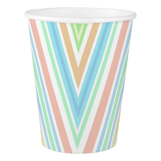 """Striped"" -2 Paper Cup, 266 ml"