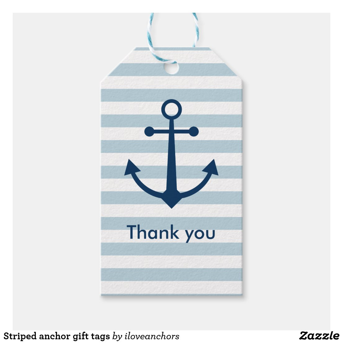 Striped anchor gift tags