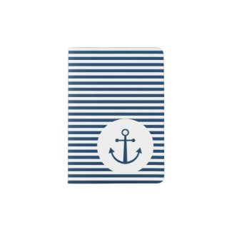 Striped anchor passport holder
