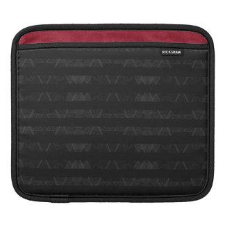 Striped Argyle Embellished Black iPad Sleeves