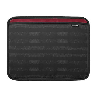 Striped Argyle Embellished Black MacBook Air Sleeves